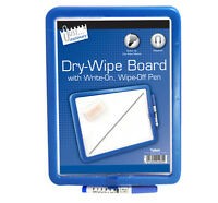 Dry Wipe Magnetic Fridge Board with Pen - Marker Note Memo Office or Home useNEW