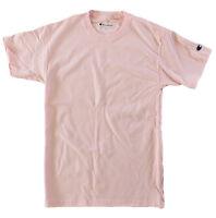Champion Men 100% Cotton Short Sleeve T Shirt Pale Pink 2XL