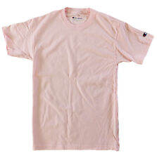 Champion Men 100% Cotton Short Sleeve T Shirt Pale Pink Large (L)