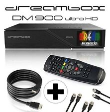 Dreambox DM900 UHD 4K E2 Linux PVR Receiver 2x DVB-S2X, 1x DVB-C/T2 Triple Tuner