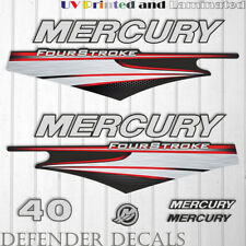 Mercury 40 HP Four Stroke EFI outboard engine decal sticker  kit reproduction