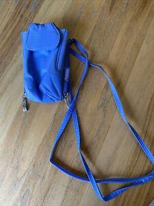 Baggallini Small Blue Phone Camera Case Shoulder ClipOn Purse Wallet Case