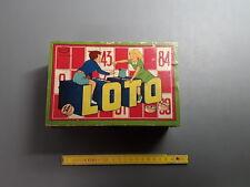 Jeu de Loto en bois ancien jouet vieux jeu commerçe epicerie