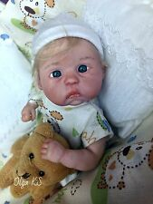 OOAK baby Adrian   miniature art doll  by Olga KS   6 1/2 ""