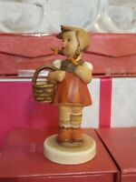 "Vintage Hummel German Figurines # 96 ""Little Shopper"" TMK-2 Full Bee 1950"