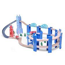 Wooden Orbit Spiraling High Level Kids Train Track Set Brio Bigjigs Compatible