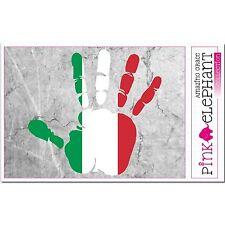 Aufkleber A4 - Italien - Hand Fahne bumper sticker  car flag Flagge mano italia