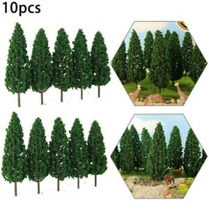 Trees For Model Making - 15cm High, Pack Of 10 Railway Architecture Scenery