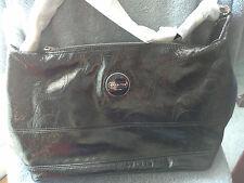New Coach #F17421 SV/BK Black Patent Leather Signature Hobo Shoulder Bag Purse
