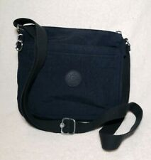 KIPLING Shoulder CrossBody Hand Bag Navy Blue Lightweight Nylon No Monkey