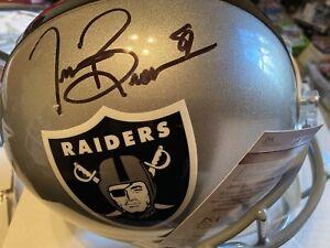 Tim Brown Signed Raiders Full Sized Authentic Riddell Helmet W/ Jsa COA 🔥