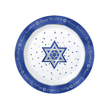 10 X Grand 26cm Hanoukah Premium PLASTIQUE Assiette Dîner Hanoukah