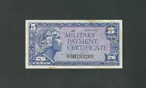 Military  Payment  Certificate - 5 Cents, Series 611  !!Replacement!!