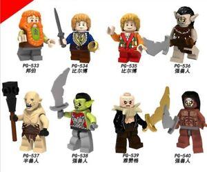 Passt LEGO Hobbit Minifiguren Herr der Ringe Bausteine Zwergen- und Ork-Legion