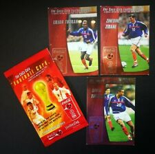 2002 World Cup - Coca-Cola (Thailand Ed) - France Set (x3 Cards - inc. Zidane)
