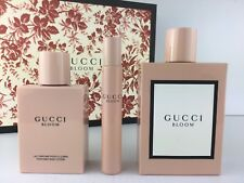SALE GUCCI BLOOM WOMEN 3PC SET 3.3 OZ EDP SPRAY + LOTION 3.3 + FRAGRANCE PEN NIB