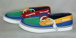 Sperry Primary Colors Colorblock Top Sider Boat Deck Leather Laces Men's Shoes