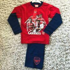 Boys Arsenal Football Team Kit Pyjama Set 100/% Cotton GUNNERS pyjamas 3-13 Years