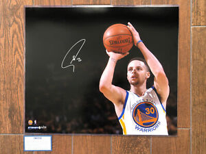 Stephen Curry Signed Warriors Autograph 20x24 NBA Auto Photo #15/30 STEINER COA