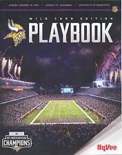 Minnesota Vikings Seattle Seahawks 1/10/16 Playbook SGA...Wild Card Program ?