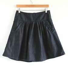 MEXX NWOT high-waist A-line short denim mini skirt Size 6 medium dark wash new