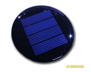 3 Stück 2V 125mA 67mm runde Solarzelle z.B. für Solarleuchte mit 1,2V NiMH Akku