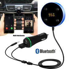 Bluetooth Hands-Free Car Kit 3.5mm Aux Jack Multi-Point Access Dual USB Charge