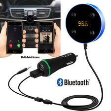Bluetooth Vivavoce Auto Kit 3.5mm Aux Jack Multi-Punto di accesso DUAL USB CARICA