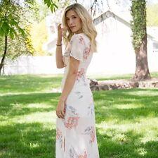 NWT Asos Current Air Romantic Floral Maxi Dress Medium MSRP $150
