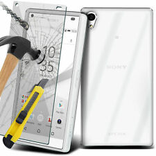 TEMPERED GLASS SCREEN PROTECTOR + TPU GEL CASE OPTION FOR SONY XPERIA MODELS