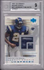 2001 UD Graded LaDainian Tomlinson RC Rookie Jersey BGS 9