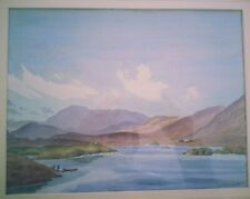 Ethelbert White - Signed Original Watercolour  - Lake and Mountains