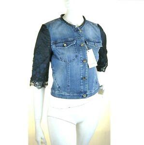 Giacca Jeans Giubbotto Donna KAOS Made in Italy SA740 Giubbino Blu Tg XS S