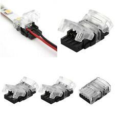 2pin 4pin 5pin 10mm LED Tira Conector Clip conector del cable de placa de circuito impreso RGB red, green, Azul y Blanco IP65