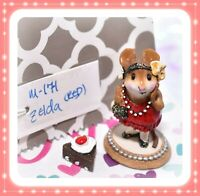 ❤️Wee Forest Folk M-171 Zelda Red Dress Gold Glitter Flapper Mouse Retired❤️