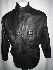TARENTO GLOVE SOFT BLACK LEATHER JACKET MEN SIZE M  VERY RARE UNIQUE DESIGN