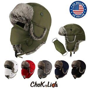 CHOK.LIDS Water Resistant Winter Trapper Unisex Premium Quality Detachable mask