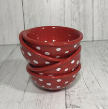 The Pioneer Woman Retro Dot Red & White Condiment Dip Bowls Set of 4