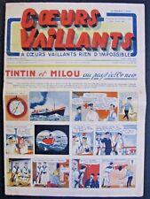 Coeurs Vaillants n° 42 de 1940  Tintin au pays de l' Or noir BE