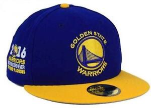 2015-2016 Golden State Warriors 73-9 Best Record Ever New Era 59FIFTY Fitted Hat