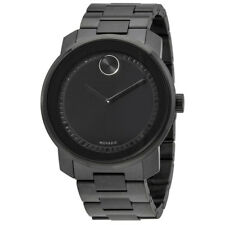 New Movado Bold Black Dial Men's Steel Bracelet Watch 3600471