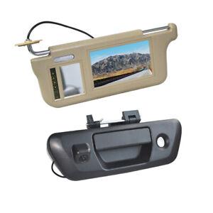 Sun Visor Rear View Mirror Monitor & Reverse Camera for Nissan NP300 Navara D23