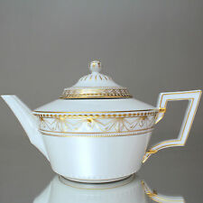 KPM Berlin: große Teekanne Kurland, Goldrand, Dekor 19, Kanne, Klassizismus Gold