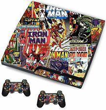 Comics Superhero Sticker/Skin PS3 Playstation 3 Console/Remote controllers,psk8