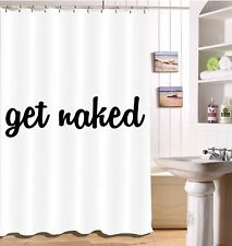 Novelty Slang Polyester Waterproof Bathroom Shower Curtain 12Hooks Set 72x72""