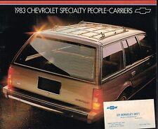 1983 Chevy WAGONS Sales Brochure: BLAZER,SUBURBAN,S-10,K10,CAPRICE,CAVALIER,S10,