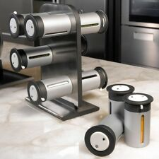 zevro spice rack 12pc magnetic countertop spice stand spice jar set #crzyj