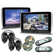 2X 10.1 Zoll Auto Kopfstütze monitor DVD Player 1024*600 HDMI USB SD+Kopfhörer
