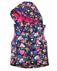 LOSAN Girl's Puffer Vest in Patchwork Heart Print, Sizes 2-7