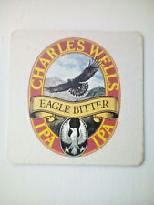 Vintage CHARLES WELLS / EAGLE BITTER Cat No'165  Beermat / Coaster